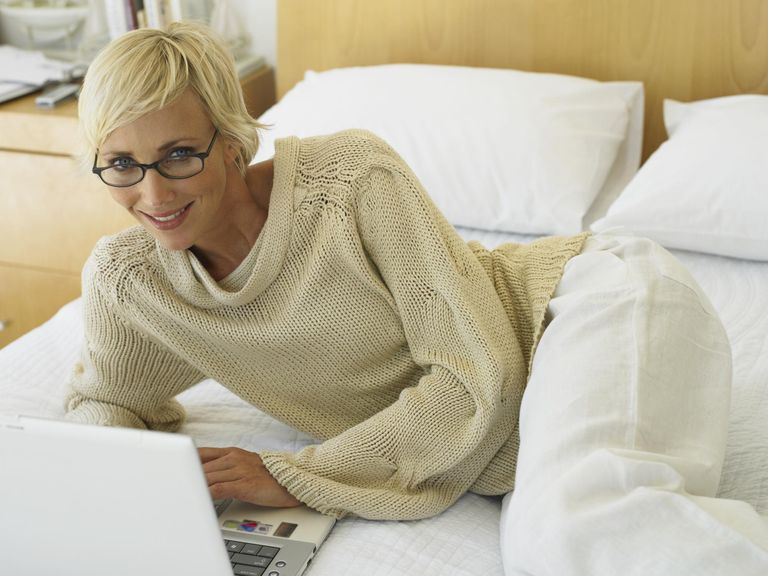 Woman at her laptop