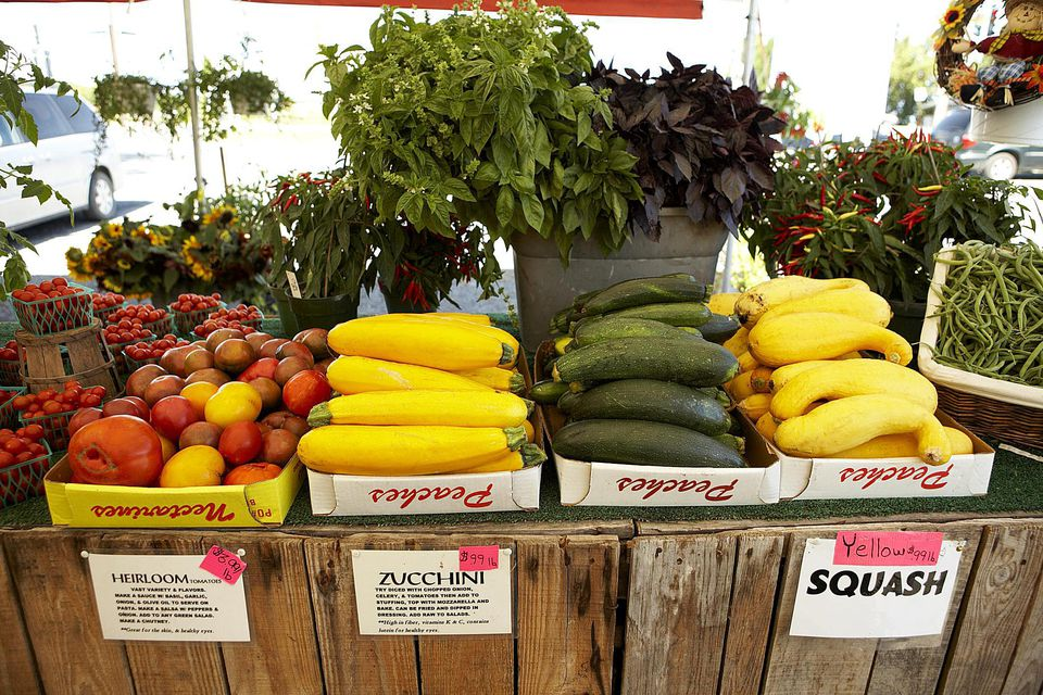 Produce and Plants at Farm Market