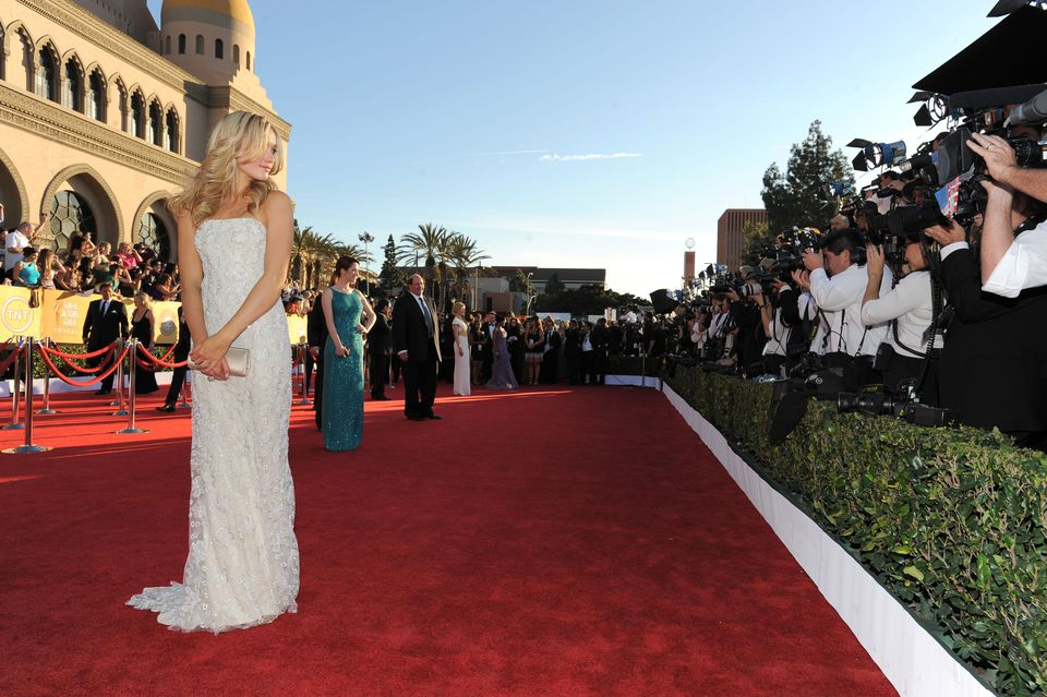 Actress Katrina Bowden arrives at The 18th Annual Screen Actors Guild Awards