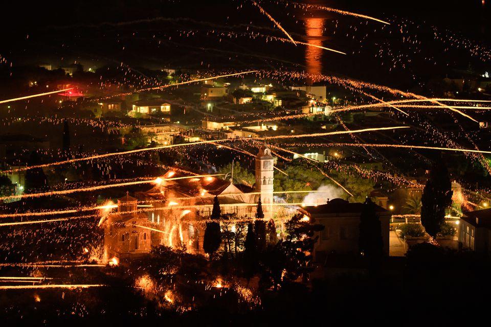 Greece Easter fireworks