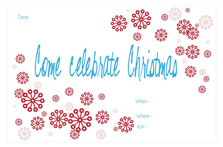 15 Free Christmas Party Invitations That You Can Print – Free Party Invites