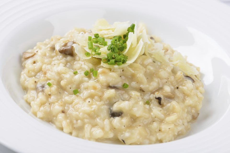 Risotto with Parmesan and mushrooms