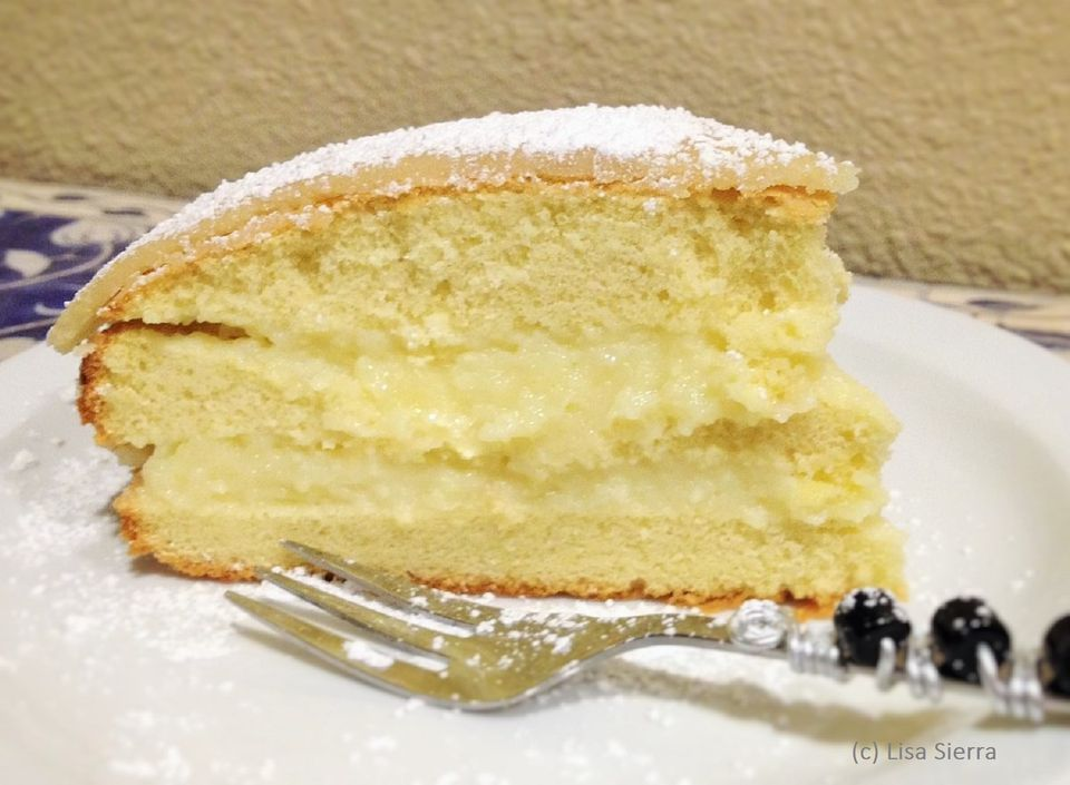 Spanish Layer Cake with Pastry Cream and Marzipan