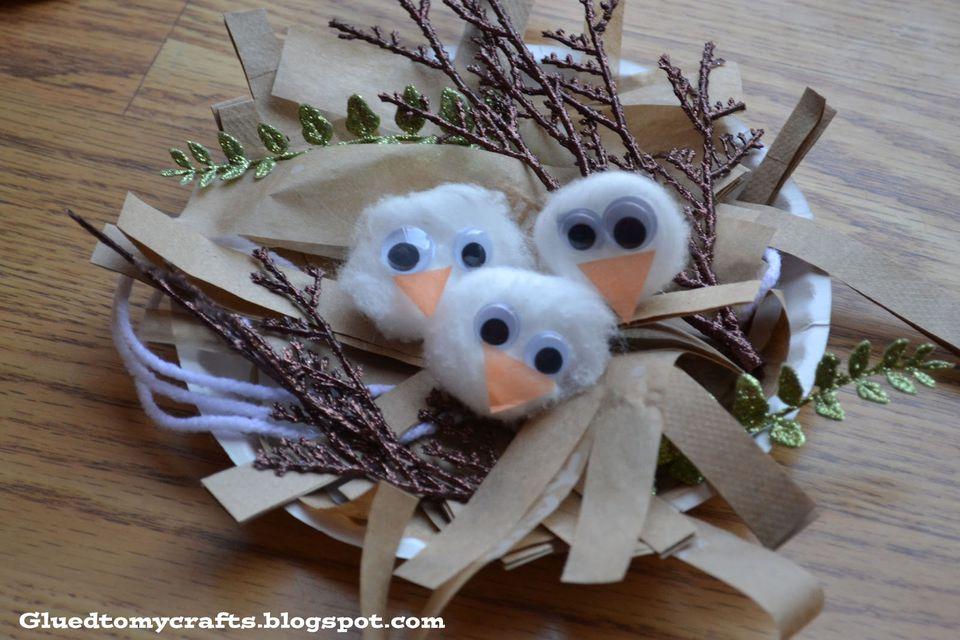 paper birds nest