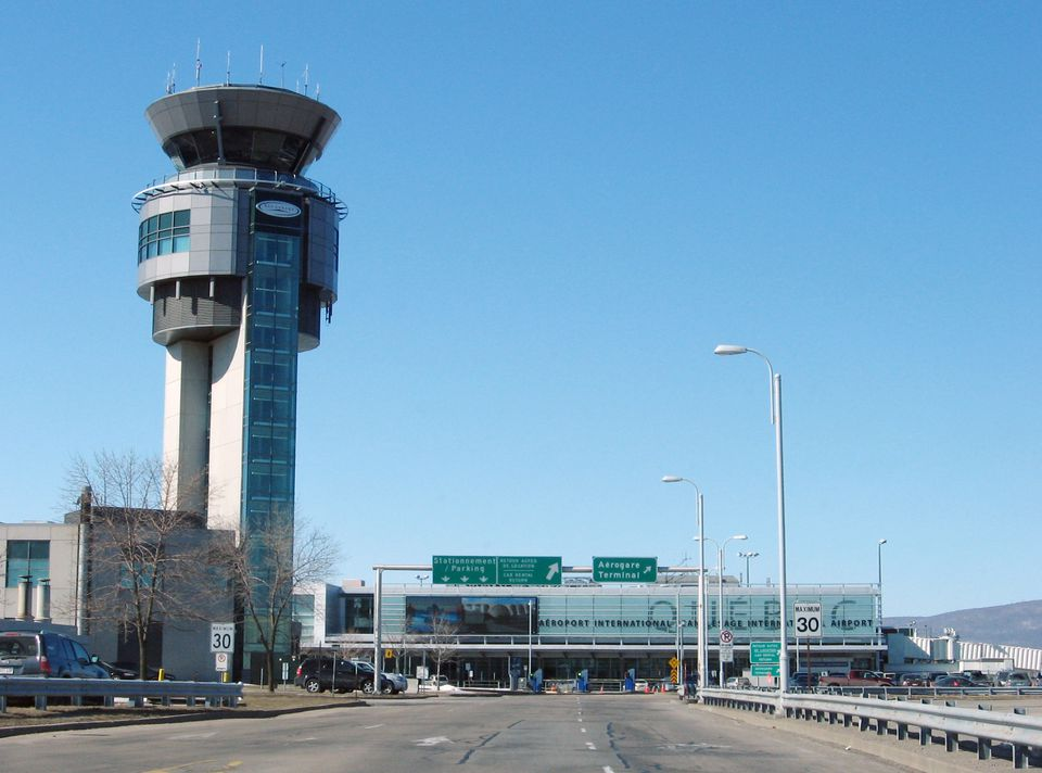 Outside Quebec City's Jean-Lesage International Airport (YQB)