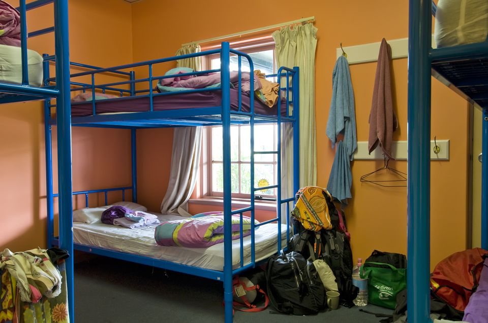 Dorm room in a hostel
