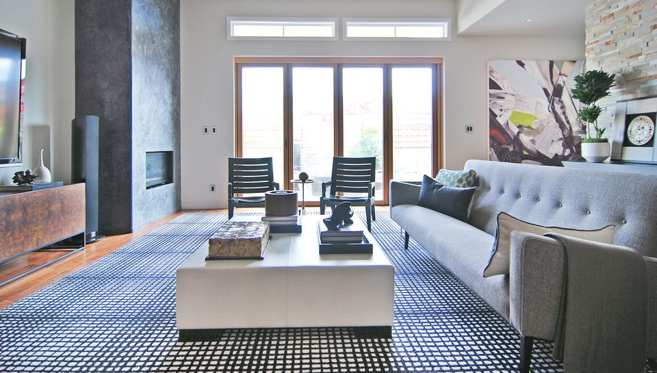 A modern, masculine California living room designed by Matthew Lanphier