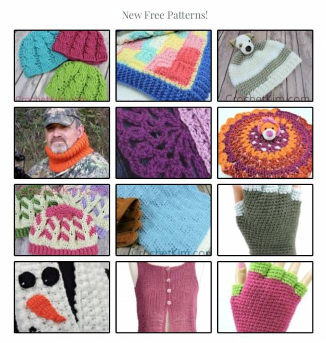 100+ Free Crochet Patterns by Kim Guzman