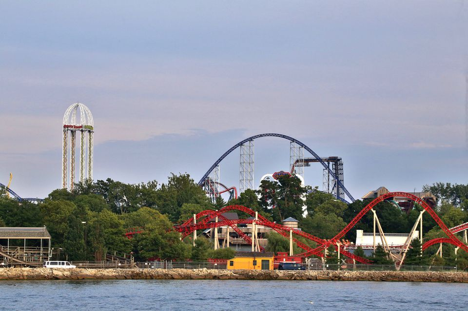 Amusement Park Complex, Cedar Point Amusement Park, Sandusky, Ohio, USA