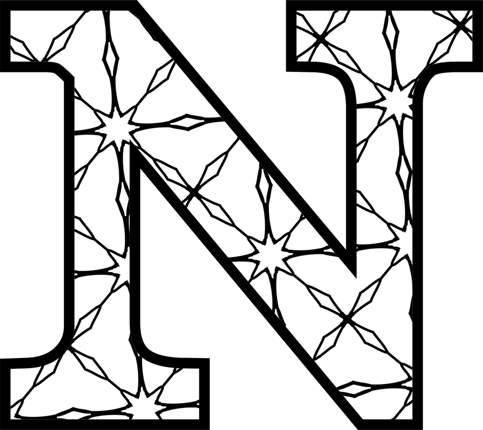 It's just a photo of Dashing Printable Letter N