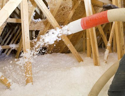 how to move blown in insulation