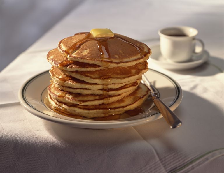 Hearty stack of pancakes
