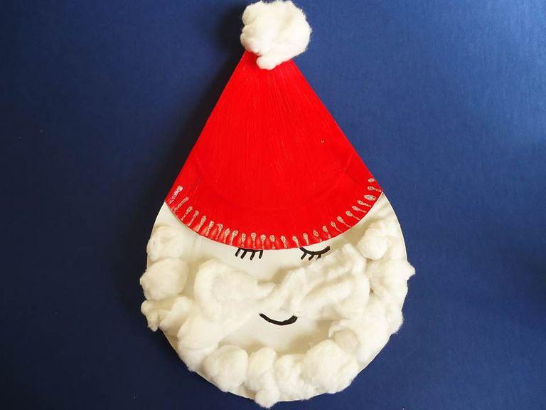 6 adornos para navidad con platos desechables - Adornos de navidad con cartulina ...