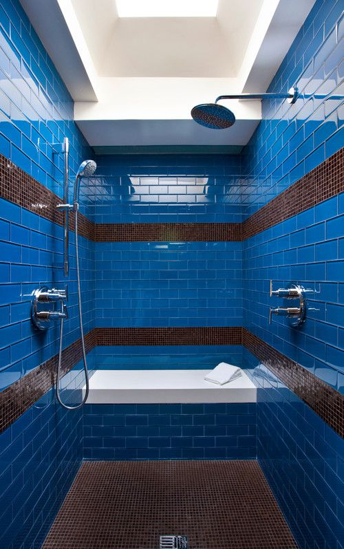 blue bathroom tiles design 19 beautiful shower designs 17453
