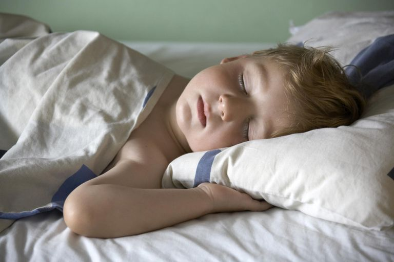 Young boy child sleeping