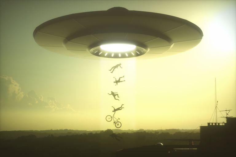 Alien abduction, illustration