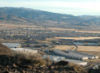 View of South Meadows / Double Diamond from Twin Peaks, Huffaker Hills hiking area, Reno, Nevada