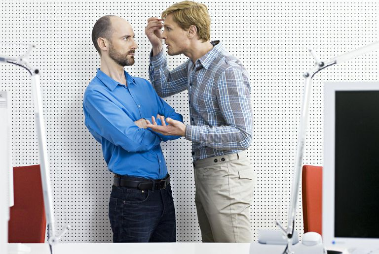 Two businessman arguing