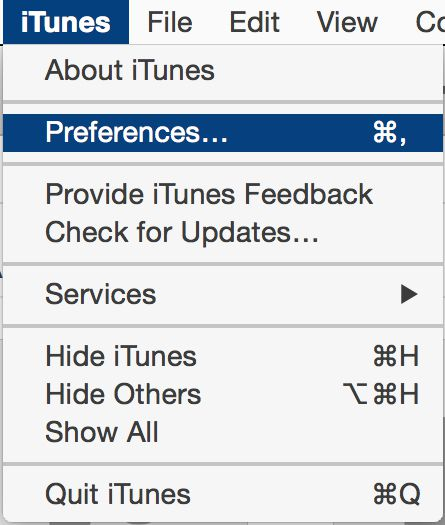 changing itunes import settings, step 1