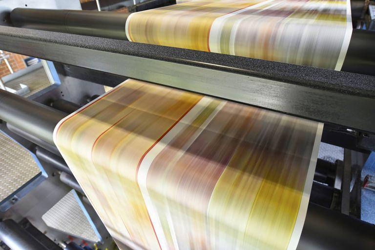 Magazine going to print