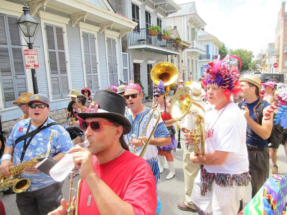 French Quarter, New Orleans. The Southern Decadence Sunday afternoon parade, 4 September 2016. Photo by Infrogmation of New Orleans.