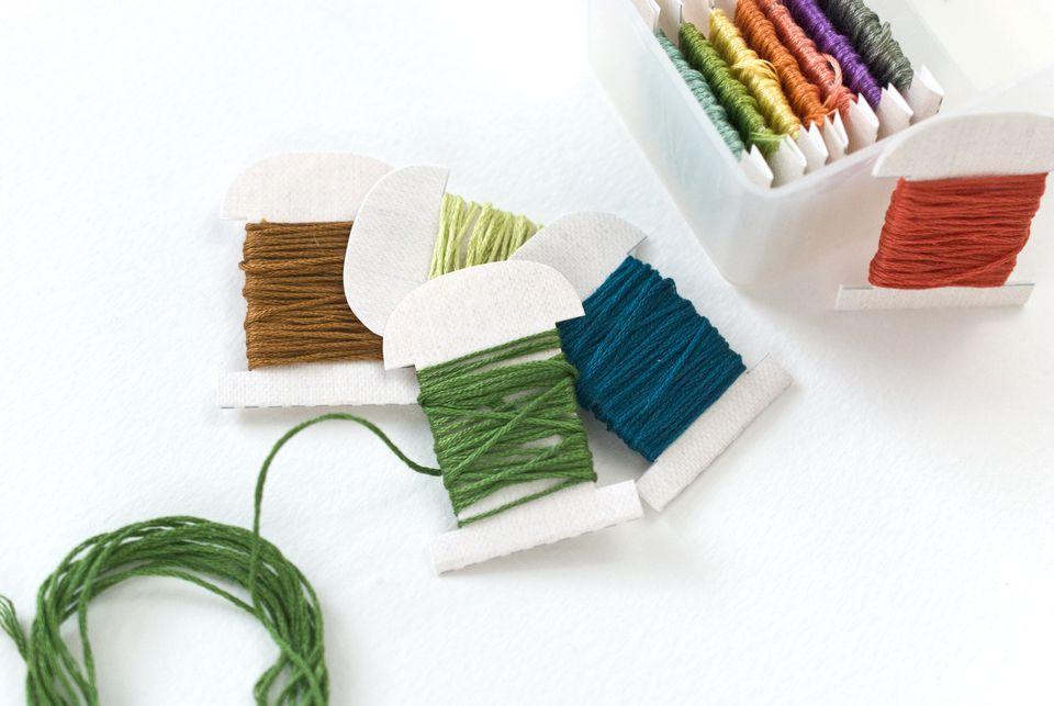 Printable Linen Floss Bobbins