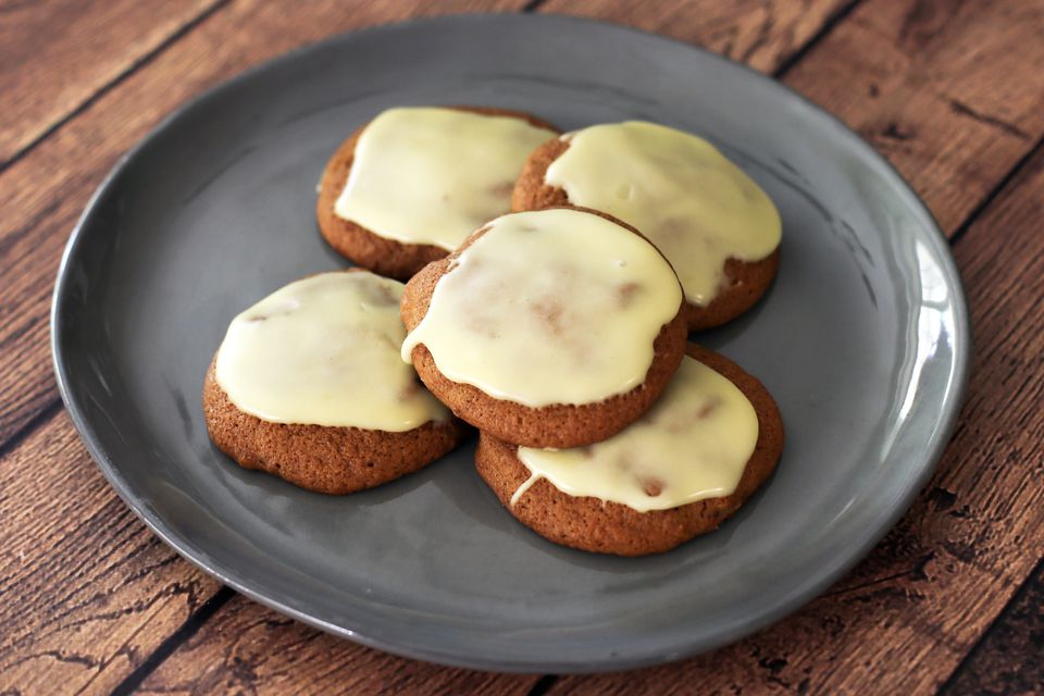 Sweet Potato Cookies with Orange Glaze