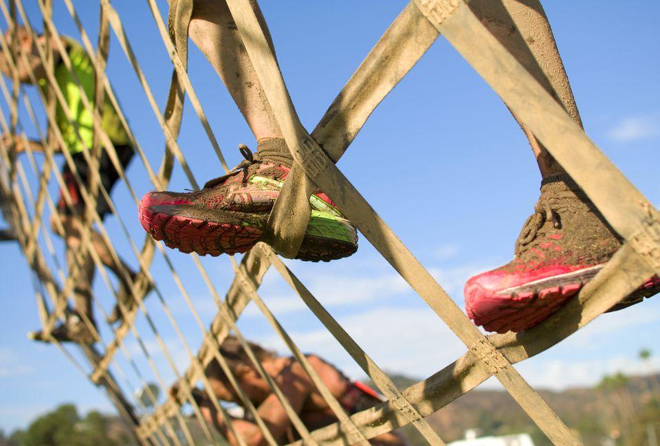Muddy sneakers