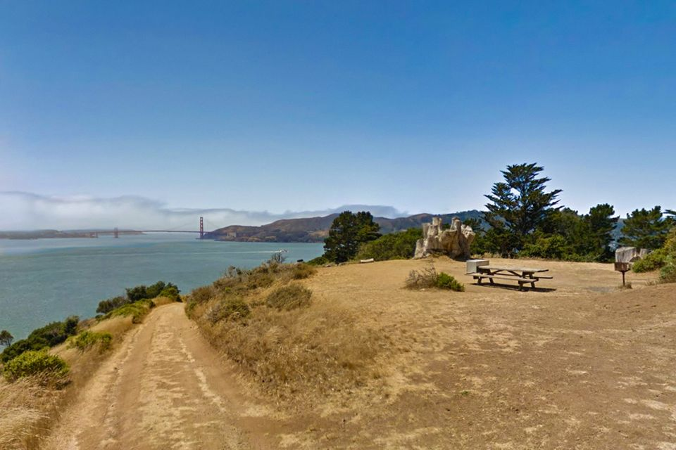 View from an Angel Island Campsite