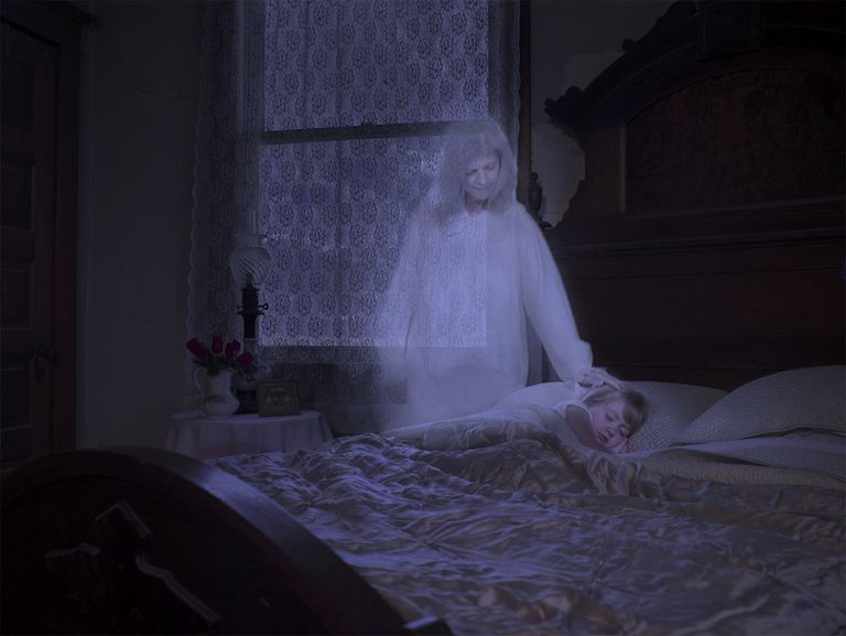 Grandmother ghost with child
