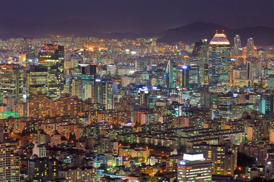 Night shot of Seoul, South Korean
