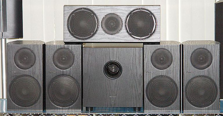 Pioneer Andrew Jones Designed Bookshelf Home Theater Speaker System - Front View