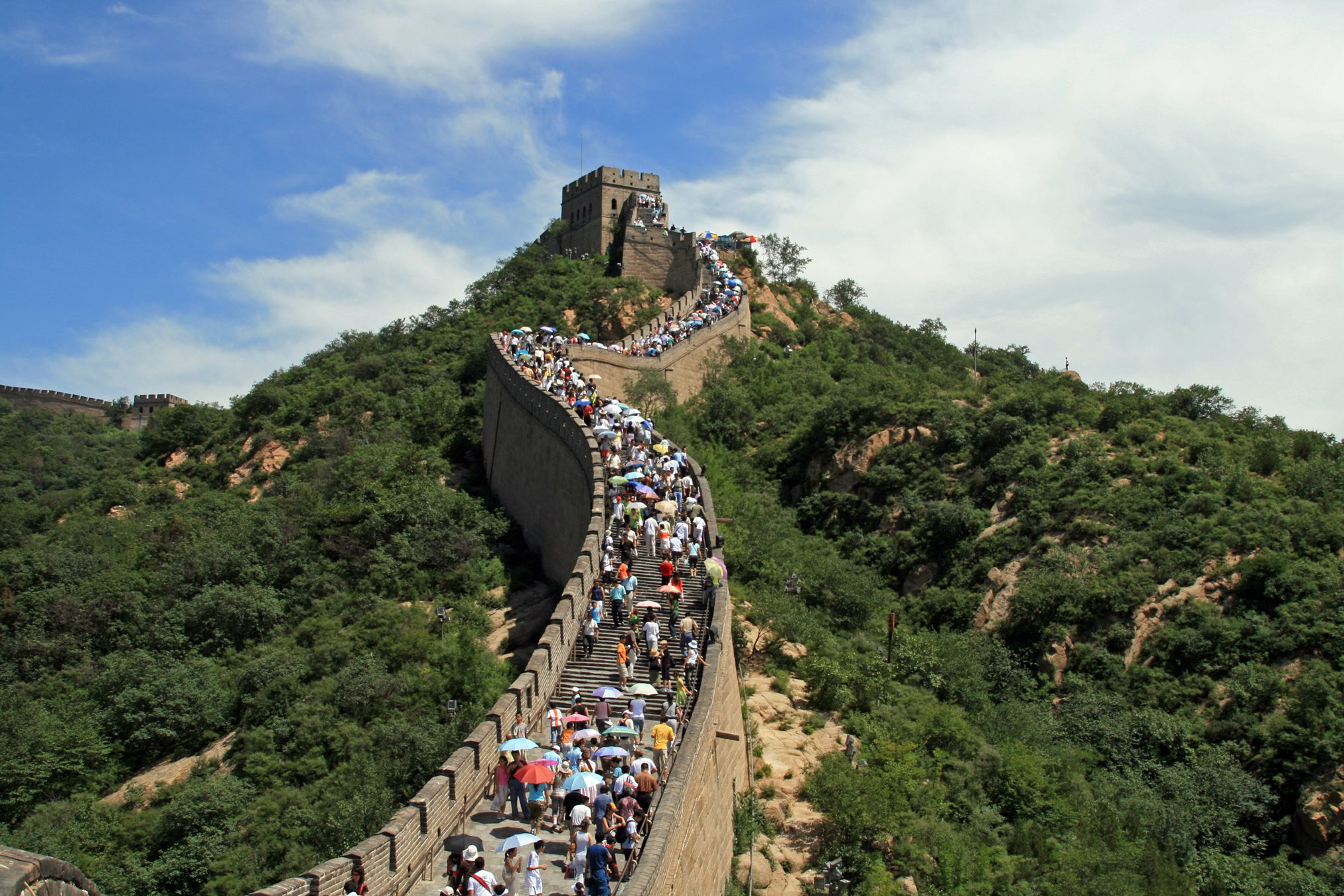 china wall places crowded most muraglia cinese getty beijing immagini pedre gettyimages chinas foto