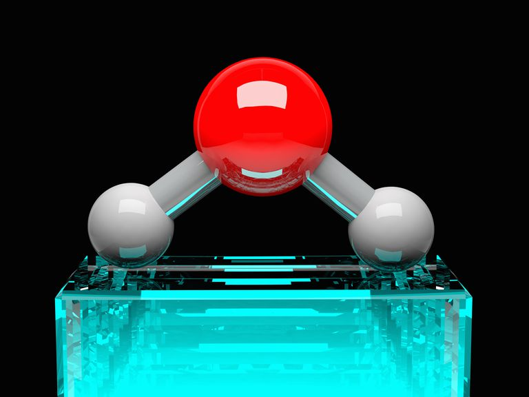 This is the three-dimensional molecular structure of water.