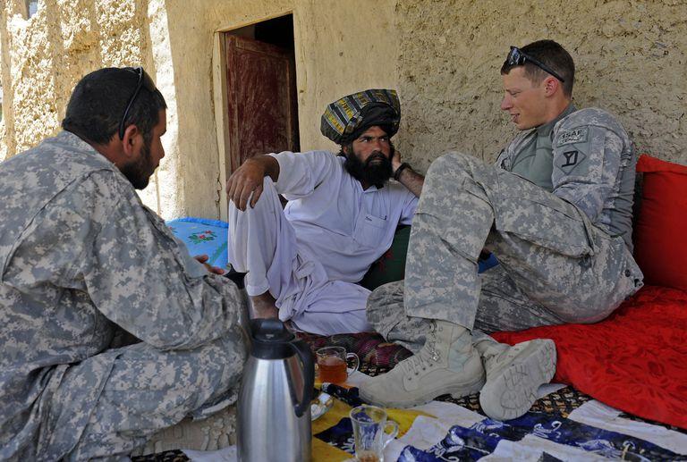 Reconstruction Team meets With elders In Afghanistan