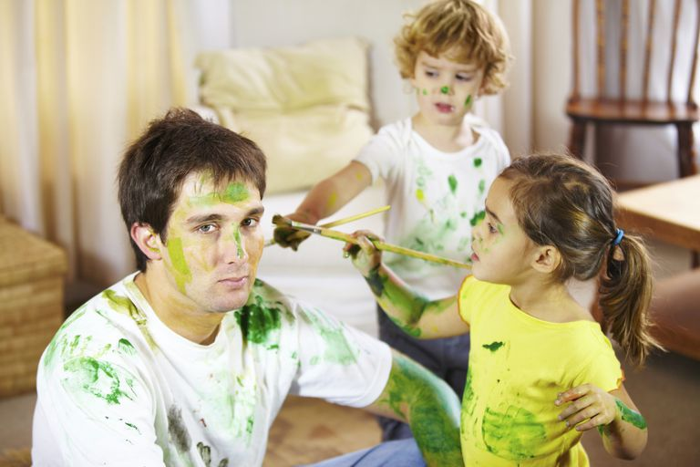 babysitter being painted