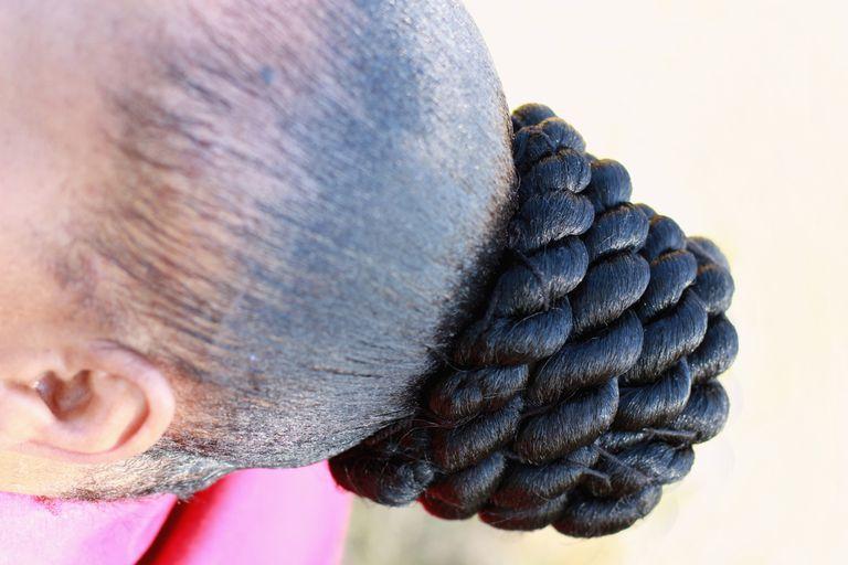 woman with braided bun