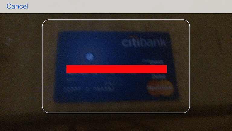 iphone safari scan credit card