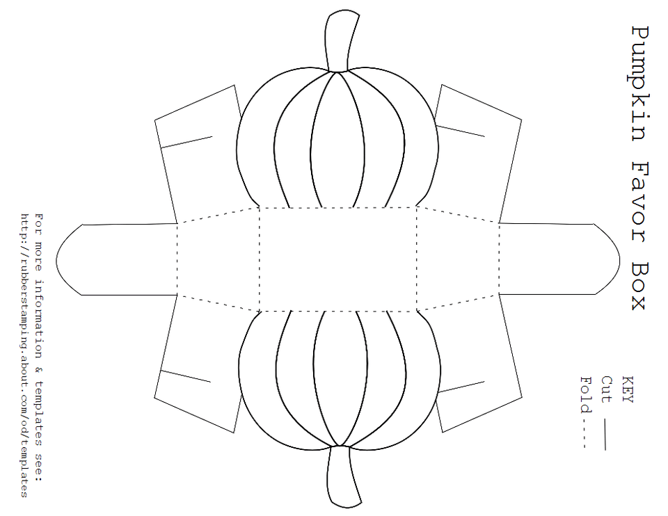 A Template for a Pumpkin Favor Box – Template Box Free Templates