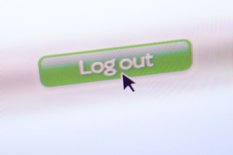 Log Out process on website
