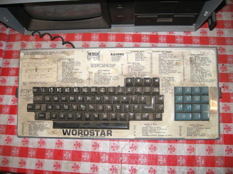 KayPro WordStar keyboard template