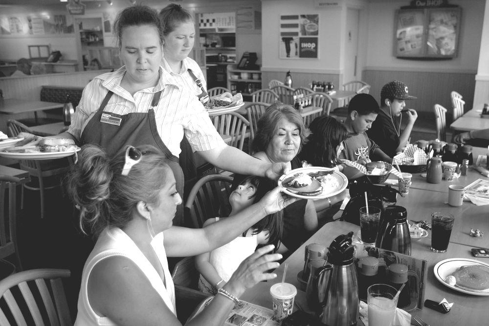 Servers at restaurant