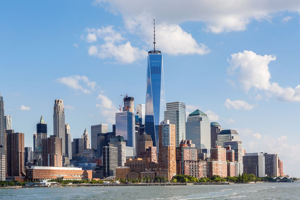 The Lower Manhattan Skyline, dominated by the One World Trade Center