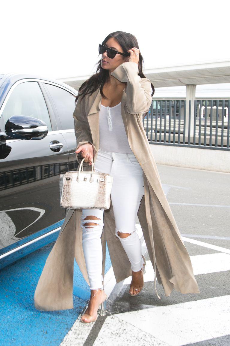 Kim Kardashian fashion style in jeans