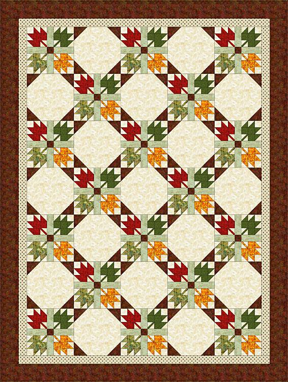 Easy Maple Leaf Quilt Pattern Bed Size Quilt