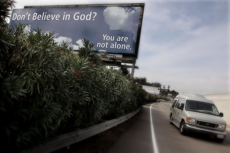 USA - Religion - Anti-Religious Organization Posts Billboard Ad for Non-Believers