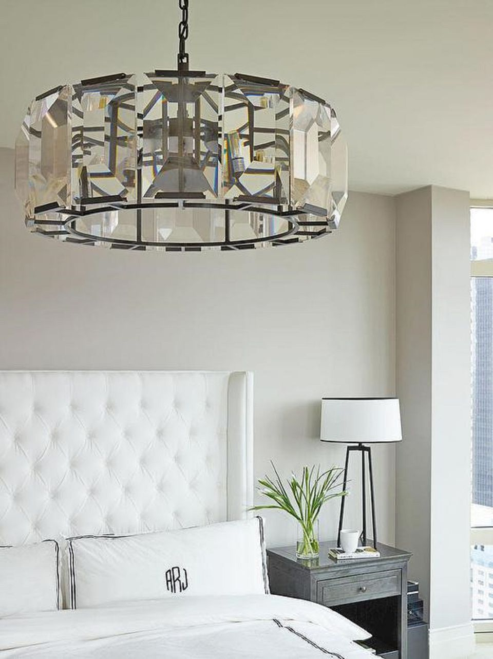 25 master bedroom lighting ideas crystal drum light fixture in bedroom mozeypictures Choice Image