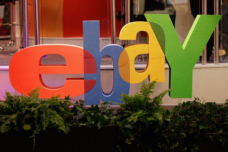 The logo of online retailer eBay stands at the CeBIT technology trade fair on March 1, 2011 in Hanover, Germany