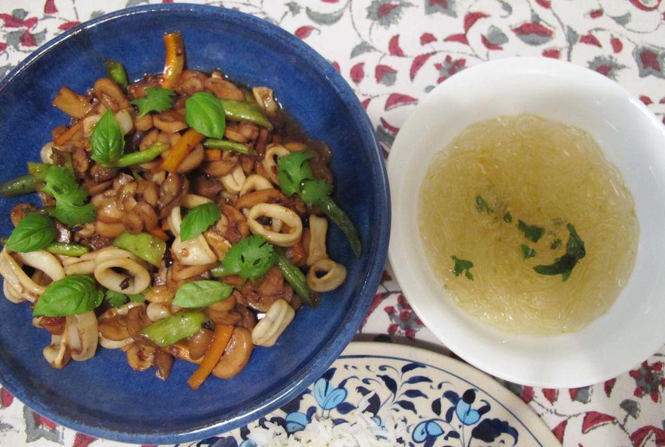 Thai chili squid