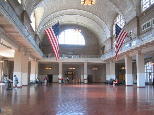 Great Hall at Ellis Island Immigration Museum